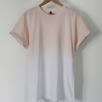 ANDCLOTHING  Orange Fade Dip Dye Tee