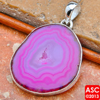 "PURPLE SOLAR QUARTZ 925 STERLING SILVER PENDANT 1 3/4"" JEWELRY"