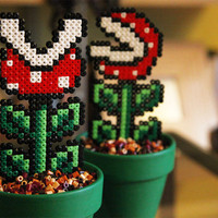 Super Mario Inspired Big Potted Piranha Plant. Two Different Models. Detachable.