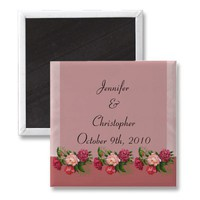 Dusty Rose Wedding Magnet from Zazzle.com