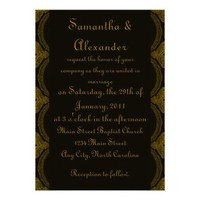 Intricate Black and Brown Invitation from Zazzle.com