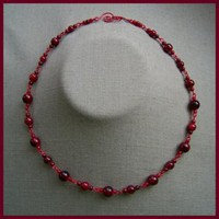 Red Granite Necklace by AthomicArtandDesign on Zibbet
