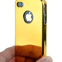 Amazon.com: Ultra Slim Logo Hard Case Cover Gold Chrome for Apple iPhone 4 4S 4G 4GS Att, Sprint & Verizon: Cell Phones & Accessories