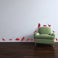 12 Birds Wall Decal Set