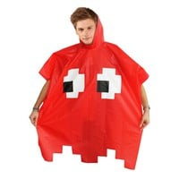 Retro Arcade Poncho Red - ORIGINAL CREATIVE GIFTS | Spinninghat.com