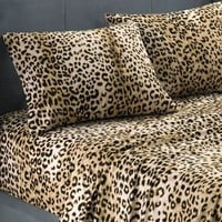 Leopard Print Twin Extra Long Sheet Set
