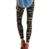 Camo Print Scuba Legging: Charlotte Russe