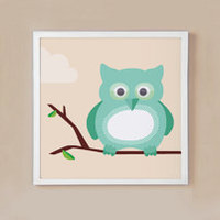 Graphic Owl Wall Prints  Set of Three by mytinytotcreative on Etsy