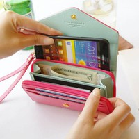 Smart Crown Style Pouch Wallet for multi Purpose (Mint Blue)
