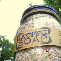 Natural Laundry Soap / Handmade Laundry by SoapForYourSoul on Etsy