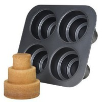 Amazon.com: Chicago Metallic Multi Tier Cake Pan 4 Cavity, 10.6 x 9.60 x 4.5 Inch: Kitchen & Dining