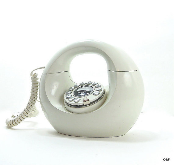 A Powdered Donut Phone by Polyconcepts 1980s by OliveandFrances