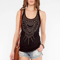 Hot Fix Tank Top in Black :: tobi