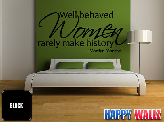 Marilyn Monroe Wall Decal Quote Art Vinyl Sticker Well Behaved ...