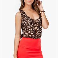 A'GACI Leopard Banded 2for Tank Dress - Thats Tight!