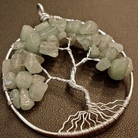 Aventurine Tree of Life Pendant by OddsAndEndsByKaley on Etsy