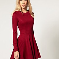 ASOS | ASOS Skater Dress with Button Detail at ASOS