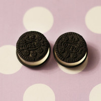 Made to order custom oreo cookie plugs by littlekittyboutique