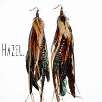 HAZEL Extra Long Feather Earrings