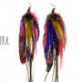 FLORA Extra Long Feather Earrings