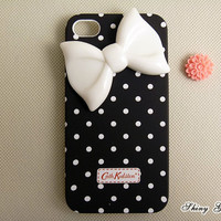 iPhone 4 case iPhone 4s case cute iPhone 4 case bow by ShinyGift