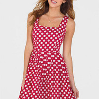 Allover Polka Dot Printed Dress