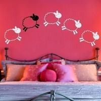 Counting Sheep Vinyl Wall Decal by tweetheartwallart on Etsy