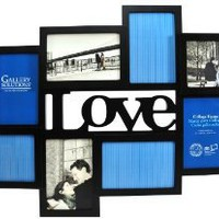 Amazon.com: Gallery Solutions Black 3D Love Collage Frame with 8 Openings: Home & Kitchen