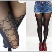 Sandysshop  Lace Corset Suspender Stocking/ Pantyhose/ tights