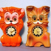 Reserved Kitschy Animal Clocks