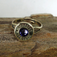 Bullet Ring Winchester 38 SPL Purple by ShellsNStuff on Etsy