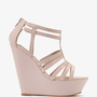 Strappy Patent Wedge Sandals | FOREVER 21 - 2030186343