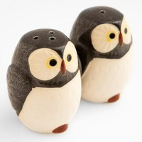 Poketo Woodland Owl Salt and Pepper Shakers