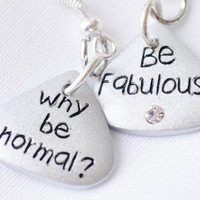 Silver Be fabulous earrings by MeredithsLittleShop on Etsy