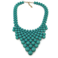 J Crew Bubble Necklace, Anthropologie Bubble Necklace, J Crew Bauble Necklace, Turquoise Statement Necklace, Triangle Geometric Necklace