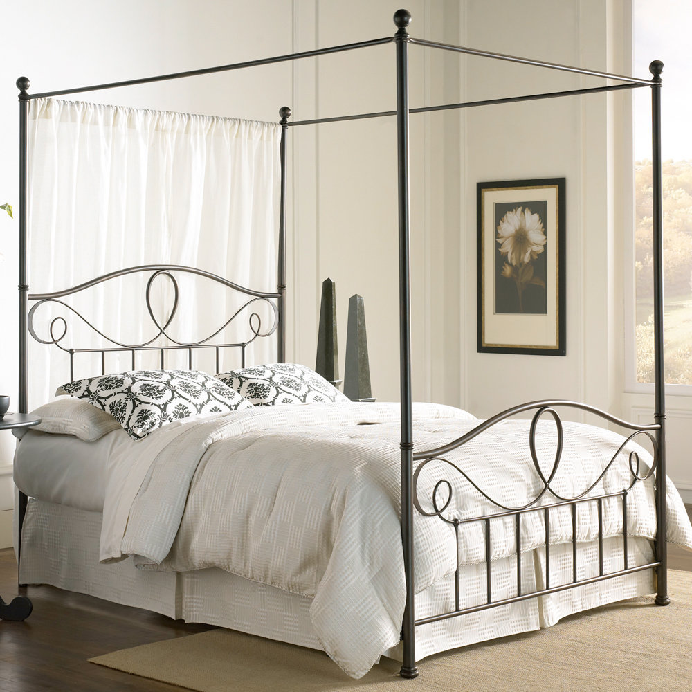 Sylvania iron canopy bed by fashion bed from humbleabode for Buy canopy bed frame