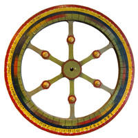 Scott Landon Antiques - Wooden Game Wheel