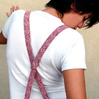 Special Edition Suspenders Pink Lace Gift by studiolana on Etsy