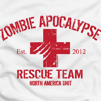 Zombie Apocalypse 2012 Rescue Team funny cool by TheShirtDudes