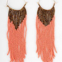 Beaded Brazil Earrings in Salmon :: tobi