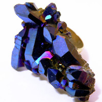 Titanium Aura Quartz Ring by nubambu on Etsy