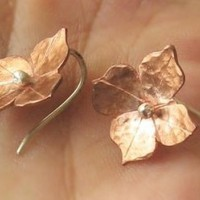 Copper Blooms Earrings Handcut Made to Order by Bijoutiful