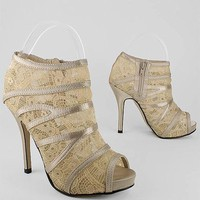 lace peep toe heels &amp;#36;28.60 in CHAMPAGNE - Lace | GoJane.com