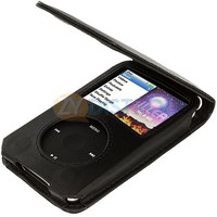 Black PU Leather Case Cover Pouch for Apple iPod Classic 5th 6th Gen Video New