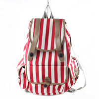 New Cool Canvas Summer Stripes Backpack