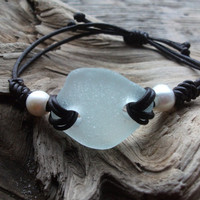 Unisex Surfers Scottish Sea Glass & Pearl by byNaturesDesign