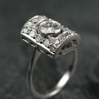 Art Deco White Gold Diamond Engagement Ring by Ruby Gray's | Ruby Gray's Antique & Vintage Rings