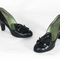 Vintage 1940's Shoes - The Enchanting Ethel Heels - sz 7.5 AAA