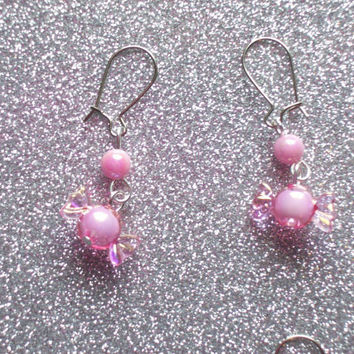 Sweet Pastel Candy Earrings - Your choice of Pink, Blue, or Purple