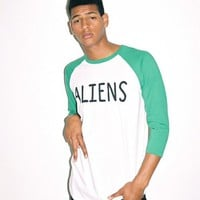 Lazy Oaf | Aliens Baseball T-shirt